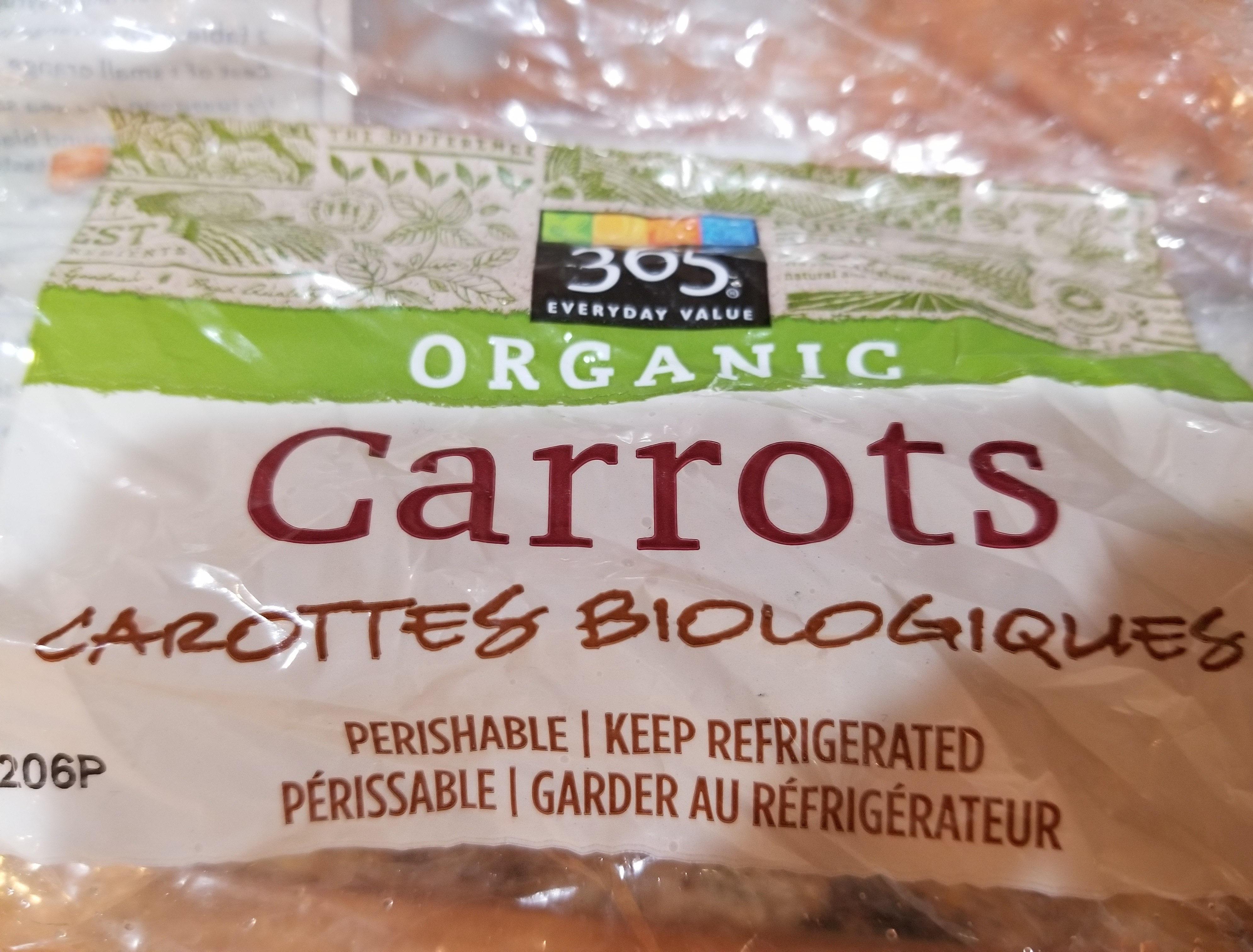 carrots organic - Nutrition facts - en