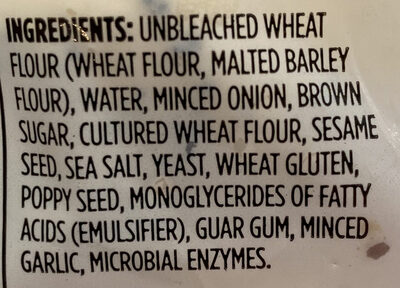 Everything Bagels - Ingredients - en