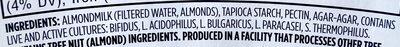 Plain almondmilk unsweetened non-dairy yogurt, plain almondmilk - Ingrédients - en