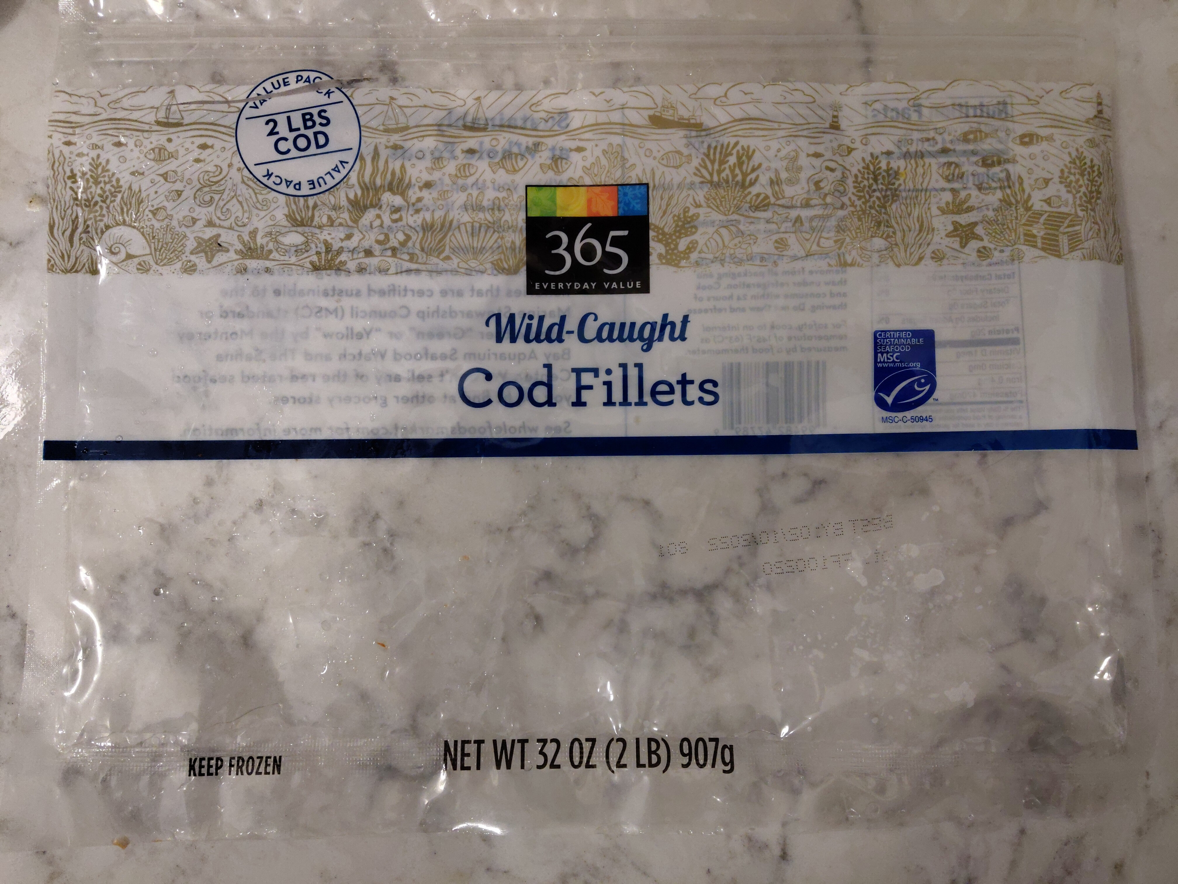 Wild-Caught Cod Fillets - Product - en
