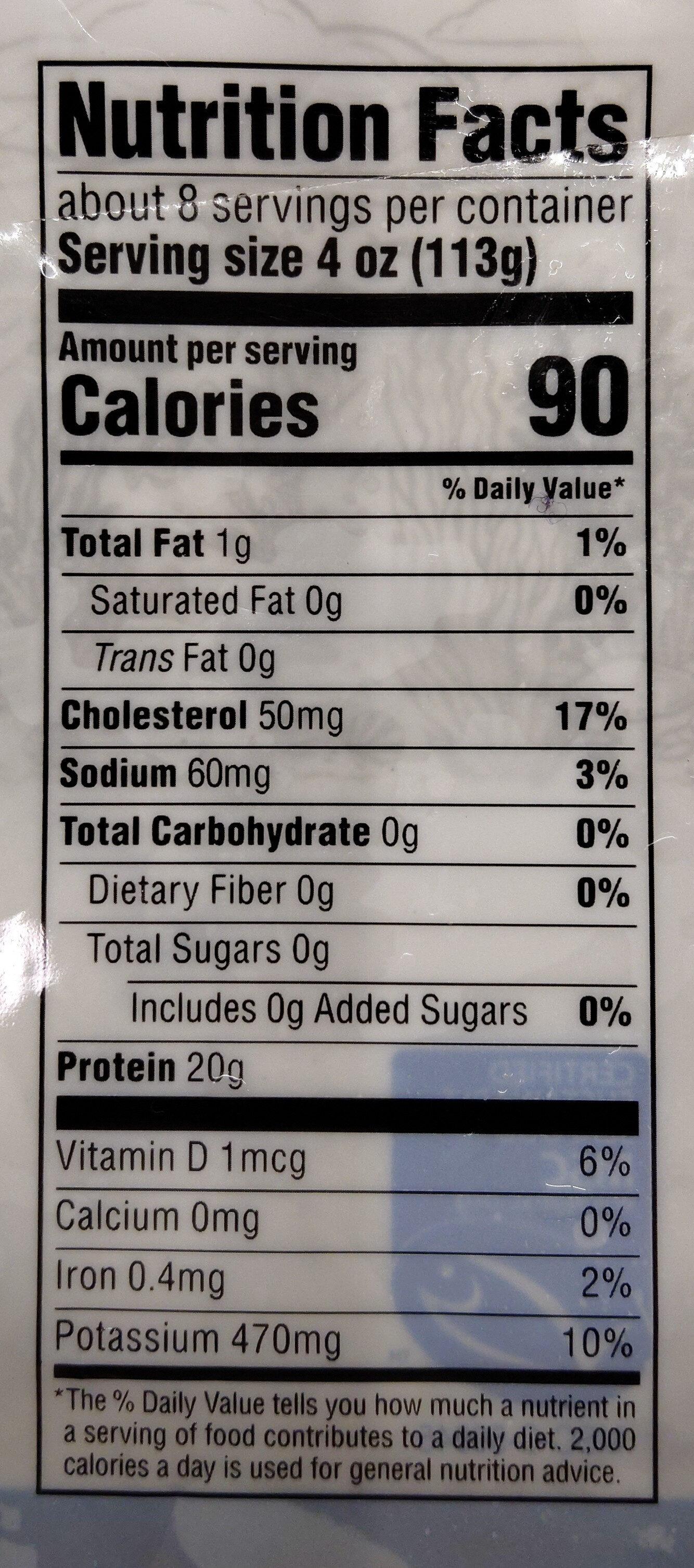Wild-Caught Cod Fillets - Nutrition facts - en