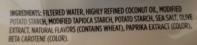 Plant-based Cheddar - Ingredients - en
