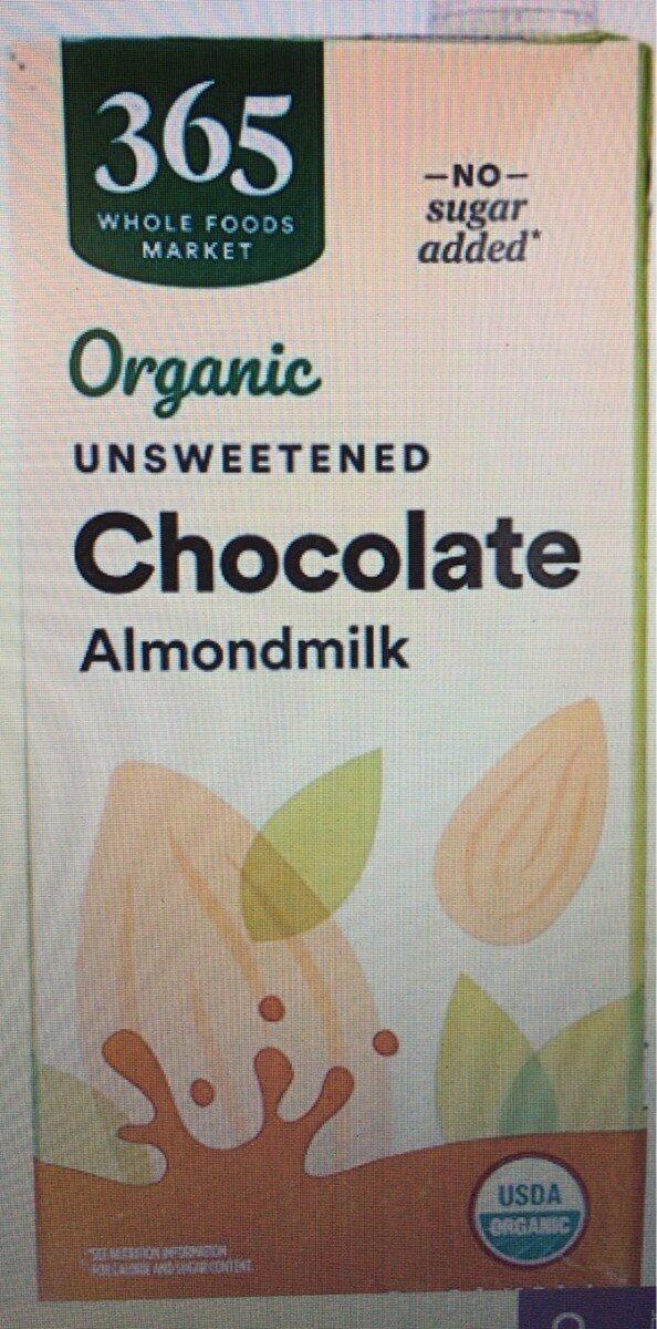 Organic unsweetened chocolate almondmilk - Produto - en