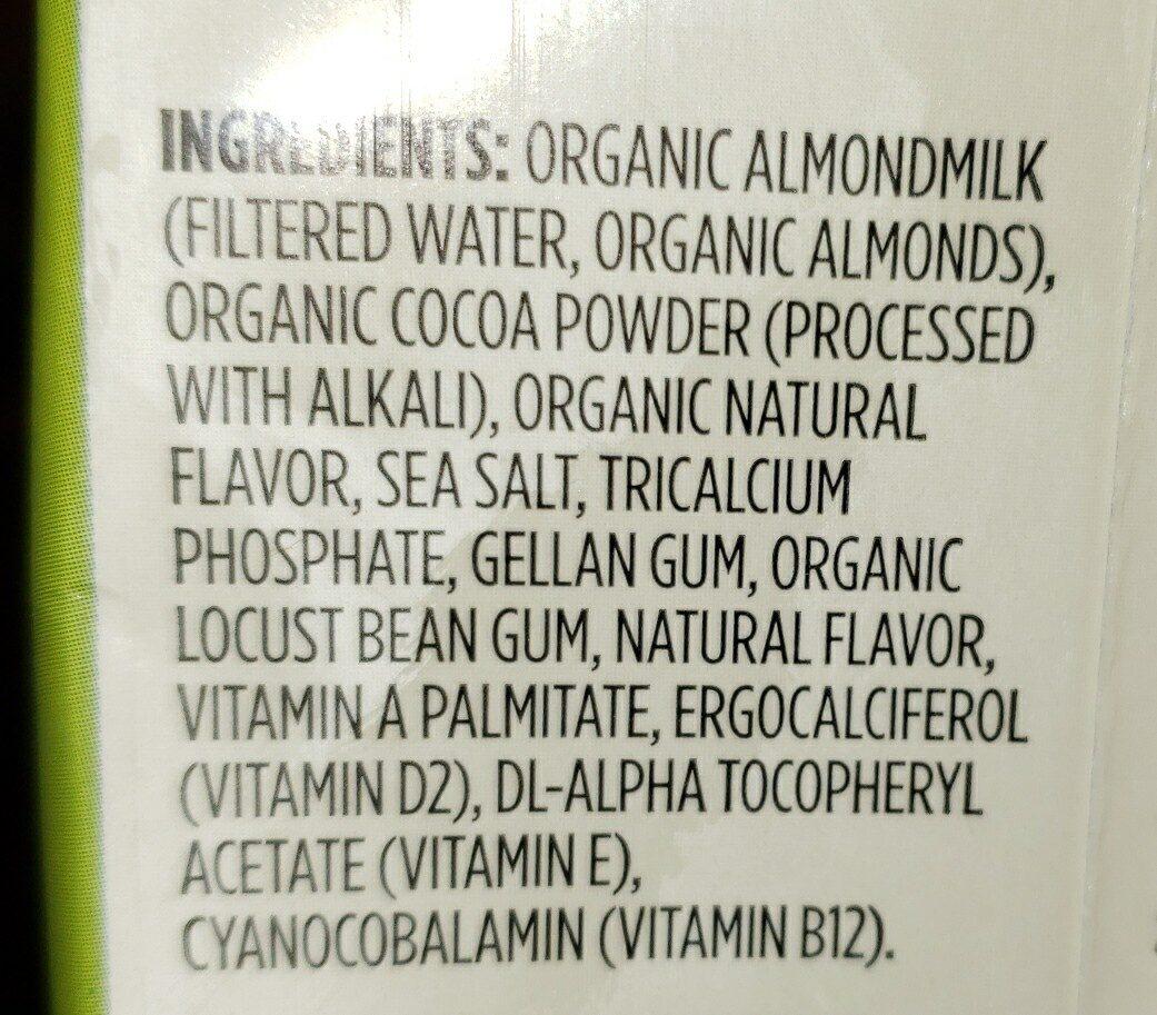 Organic unsweetened chocolate almondmilk - Ingredientes - en