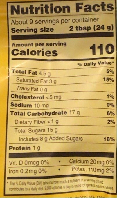 Milk chocolate covered raisins - Nutrition facts - en