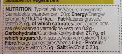 Singapore rice noodles - Nutrition facts