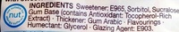 Curiously strong mint Gum - Ingredients