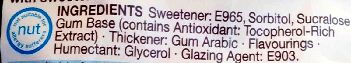 Curiously strong mint Gum - Ingredients - en