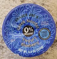 greek nonfat yogurt blueberry - Product - en