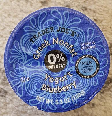 greek nonfat yogurt blueberry - Product