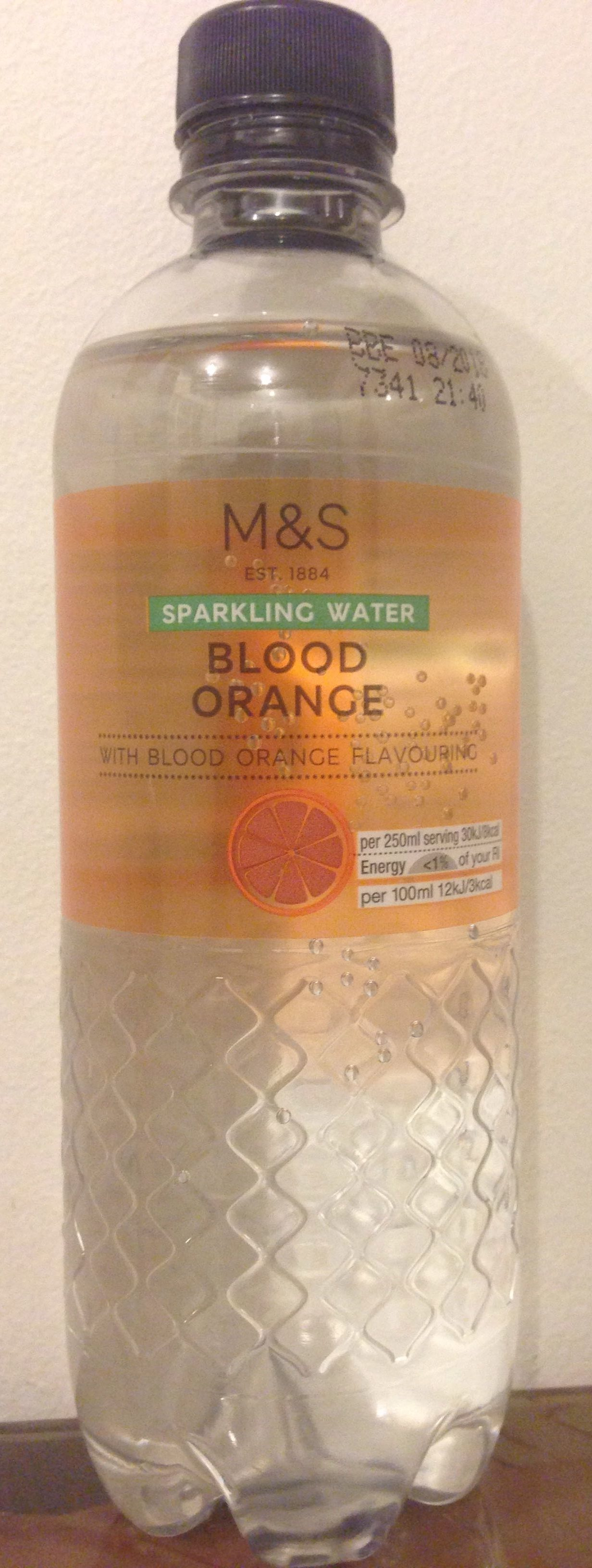 Sparkling Water - blood orange - Product