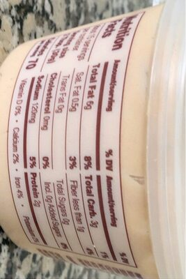 Mediterranen Style Hummus - Informations nutritionnelles - en