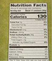 Pita bite crackers - Nutrition facts - en