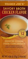 Savory Broth Chicken Flavor Reduced Sodium Liquid Concentrate - Product - en
