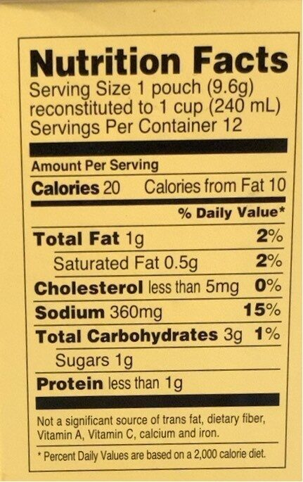 Savory Broth Chicken Flavor Reduced Sodium Liquid Concentrate - Nutrition facts - en