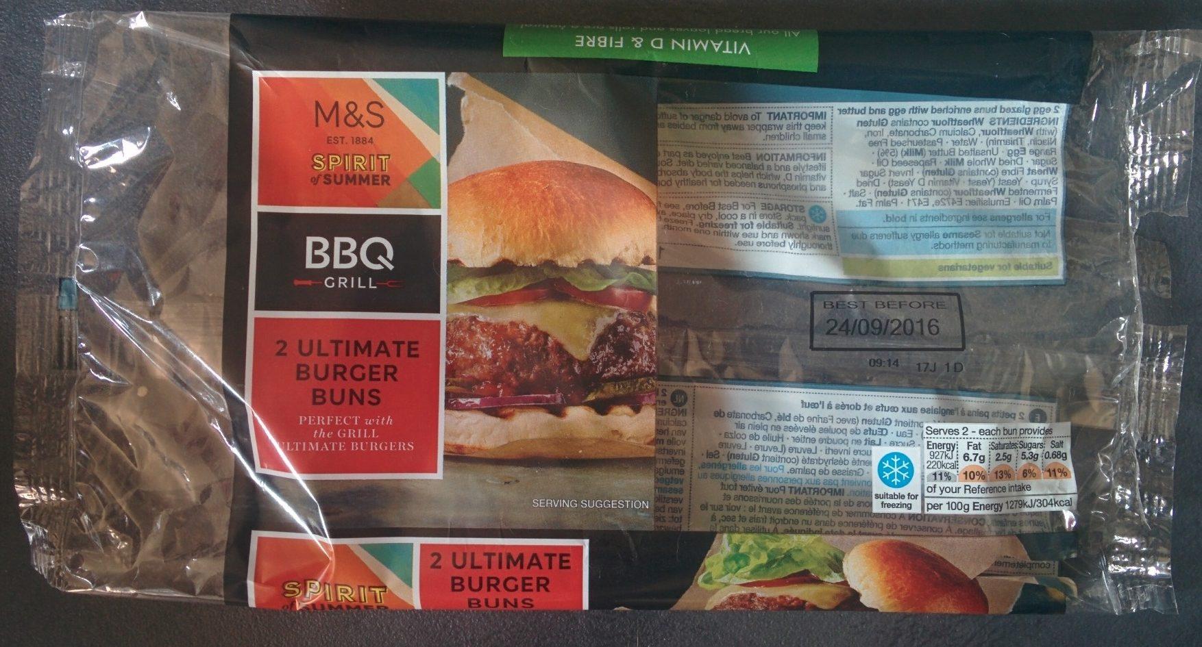 2 Ultimate Burger Buns - Produit