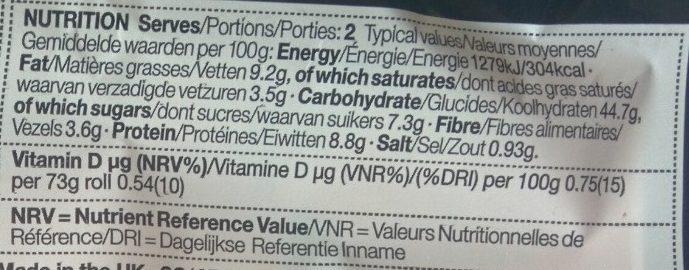 2 Ultimate Burger Buns - Informations nutritionnelles