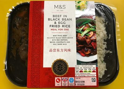 Beef in Black bean & eggfried rice - Product