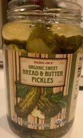 Organic sweet bread & butter pickles - Product