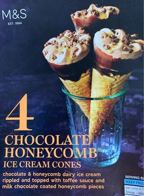 Cones glacés Chocolate Honeycomb - Product - fr