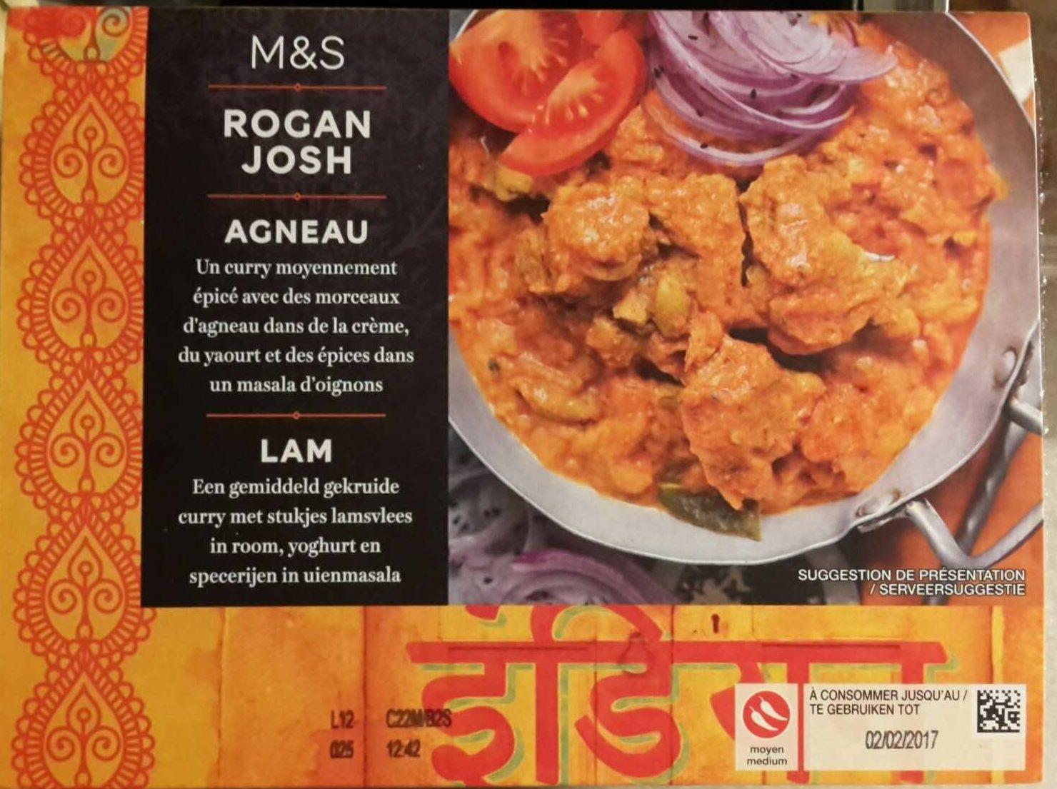 Lamb Rogan Josh - Product - fr