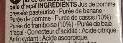 Smoothie Super Berry - Ingredients