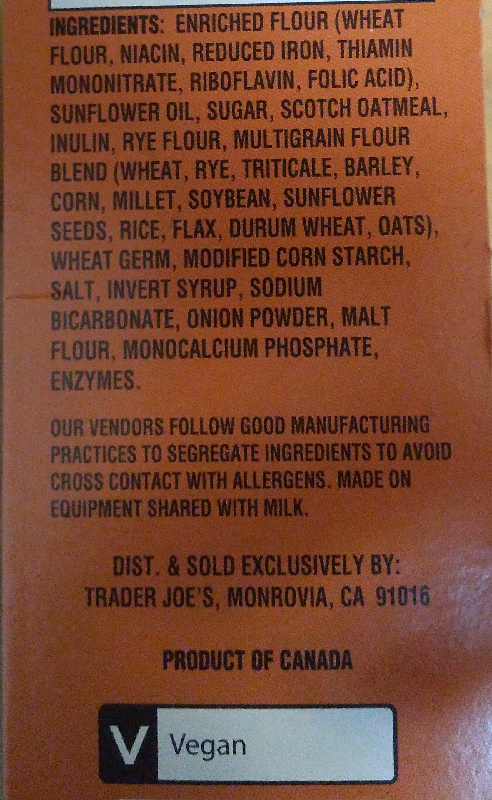 12 Grain mini snack Crackers - Ingredients - en