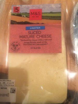 Lighter Sliced Mature Cheese - Product