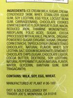 12 mini Mint Ice Cream Mouthfuls - Ingredients - en