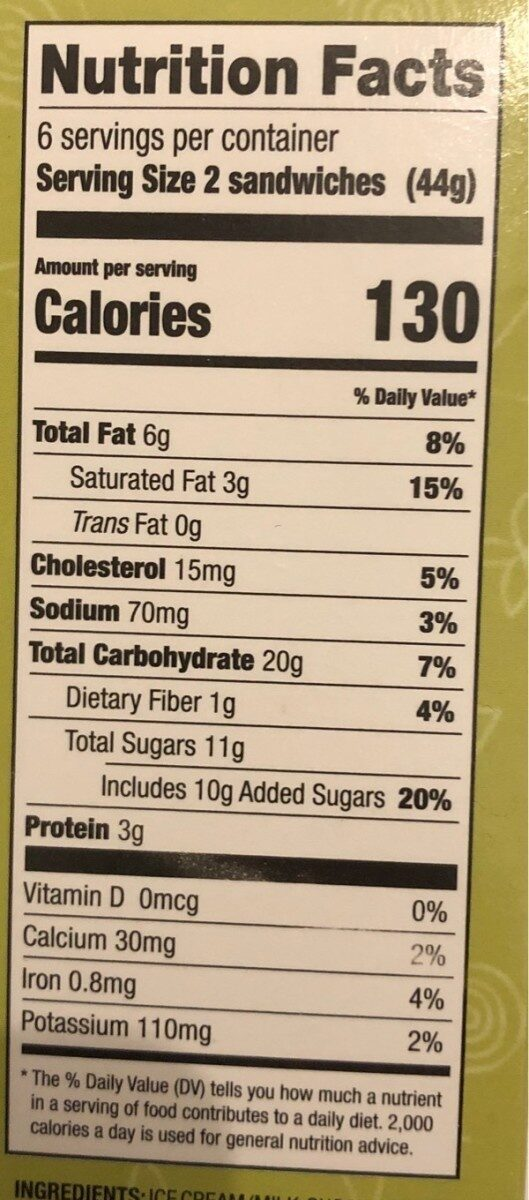 12 mini Mint Ice Cream Mouthfuls - Nutrition facts - en