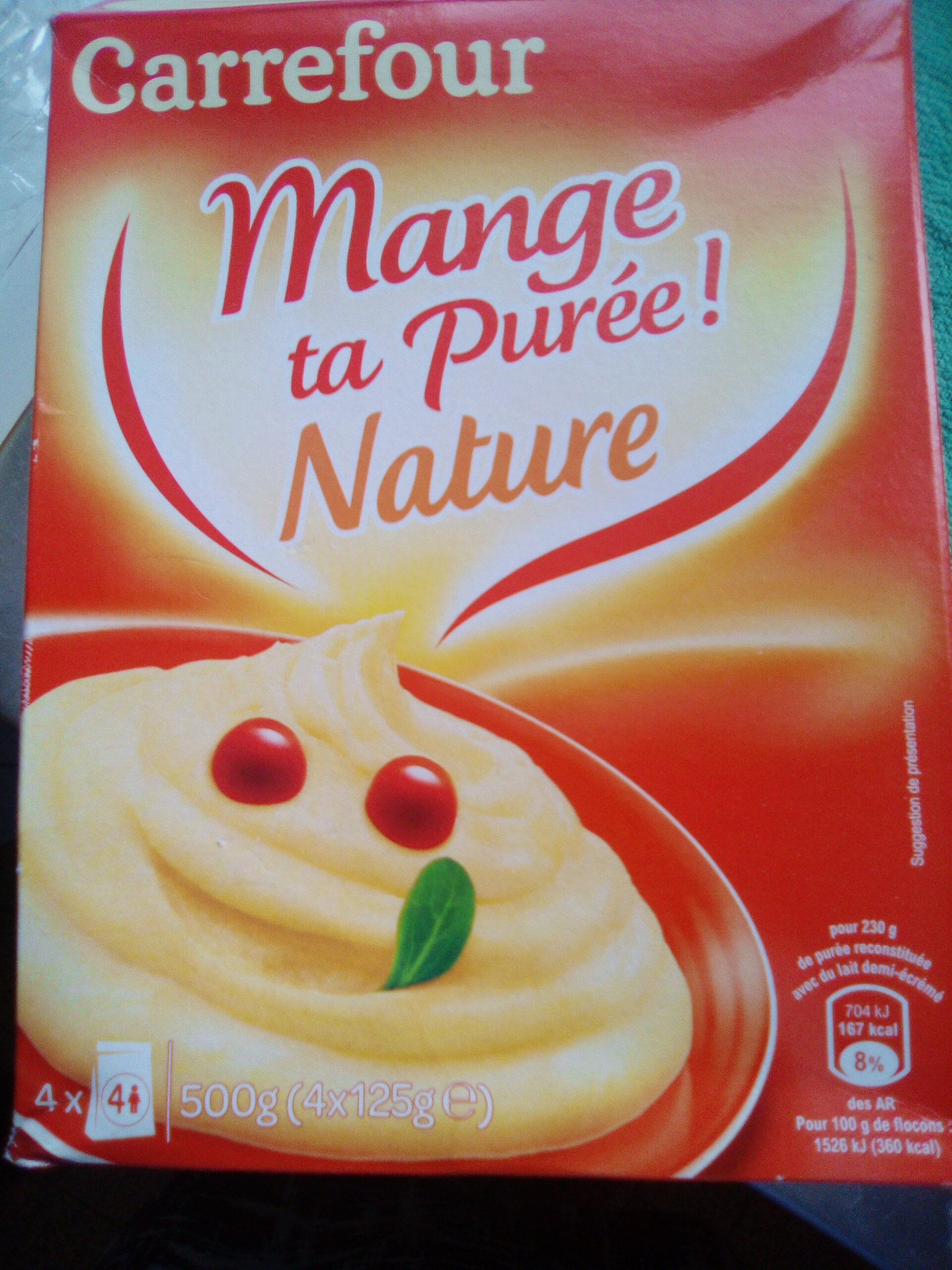 purée nature - Produit - fr