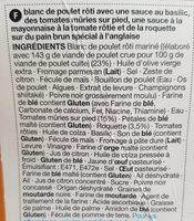 Sandwich Poulet rôti, tomate & basilic - Ingredienti - fr