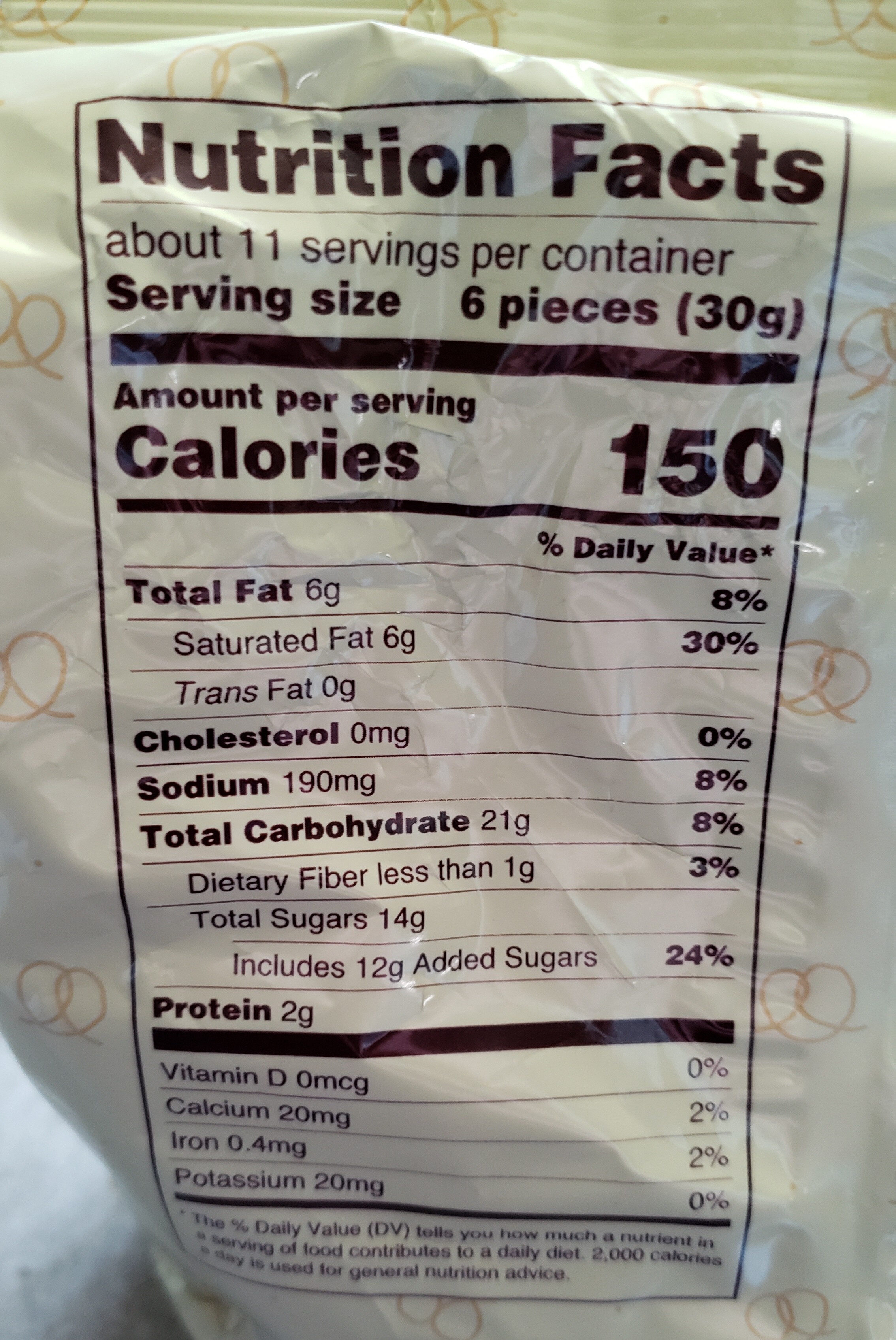 Yogurt Pretzels - Nutrition facts - fr