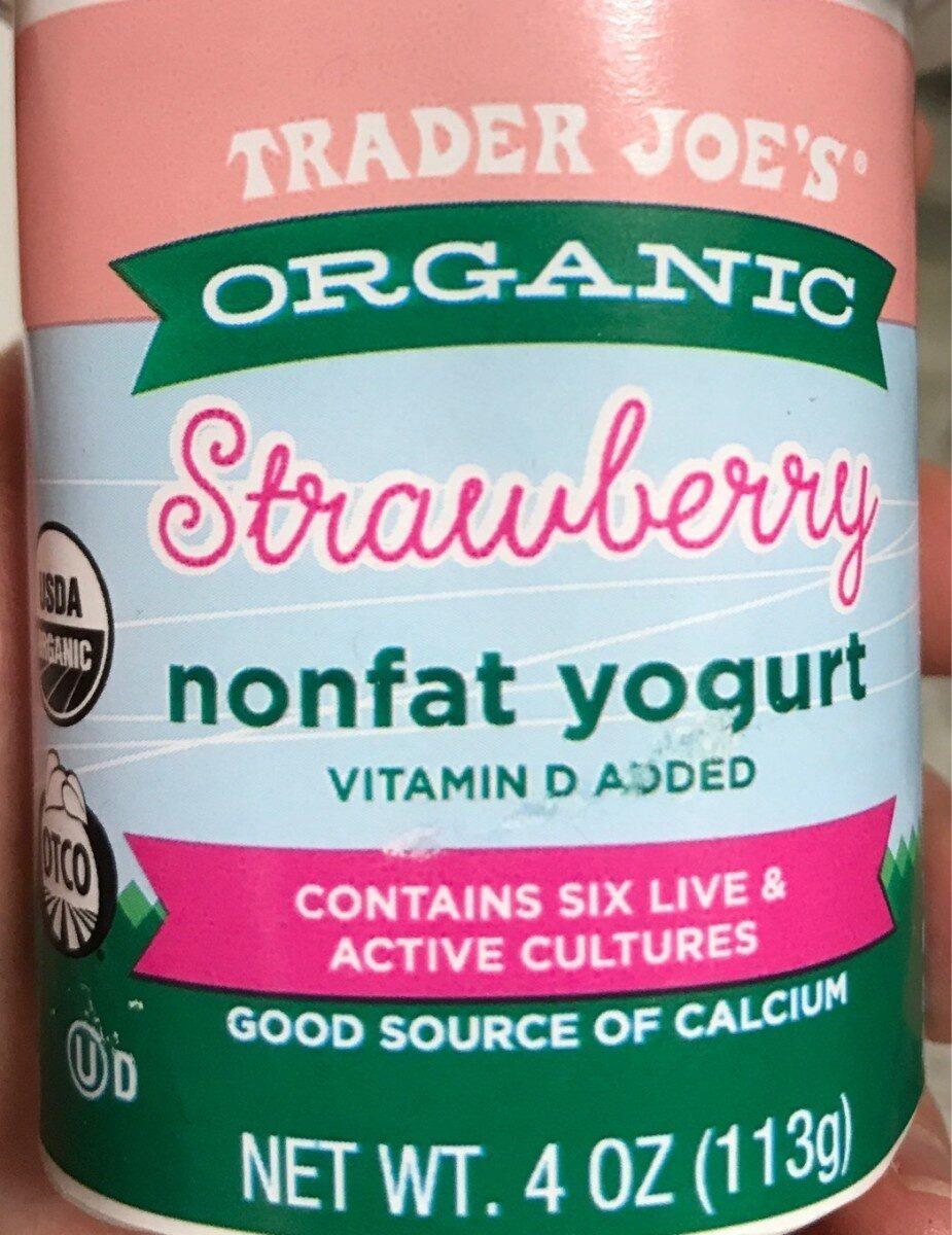 Organic Strawberry Nonfat Yogurt - Product
