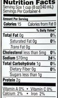 Organic Beef Broth - Nutrition facts