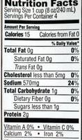 Organic Beef Broth - Voedigswaarden
