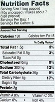 Microwave Popcorn - Nutrition facts