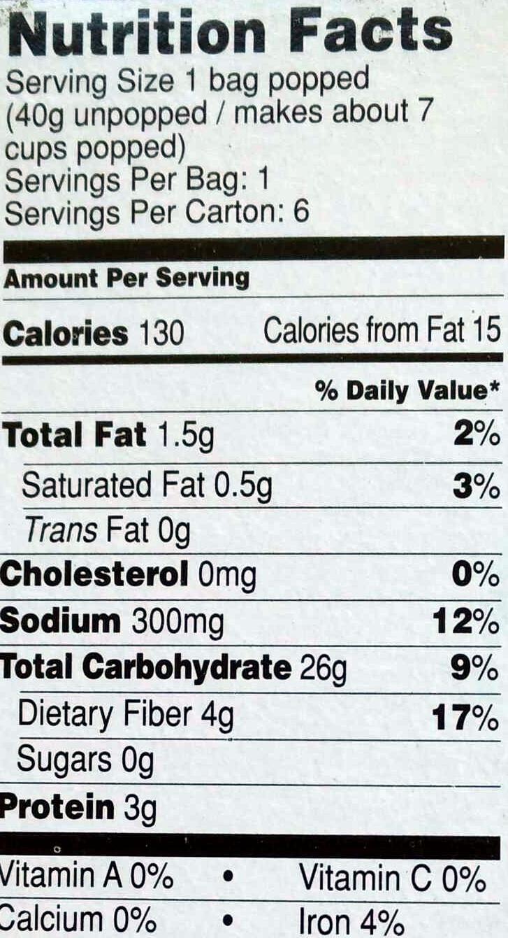 Smart N Healthy Microwave Popcorn Balance