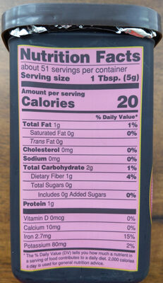 Cocoa powder - Nutrition facts