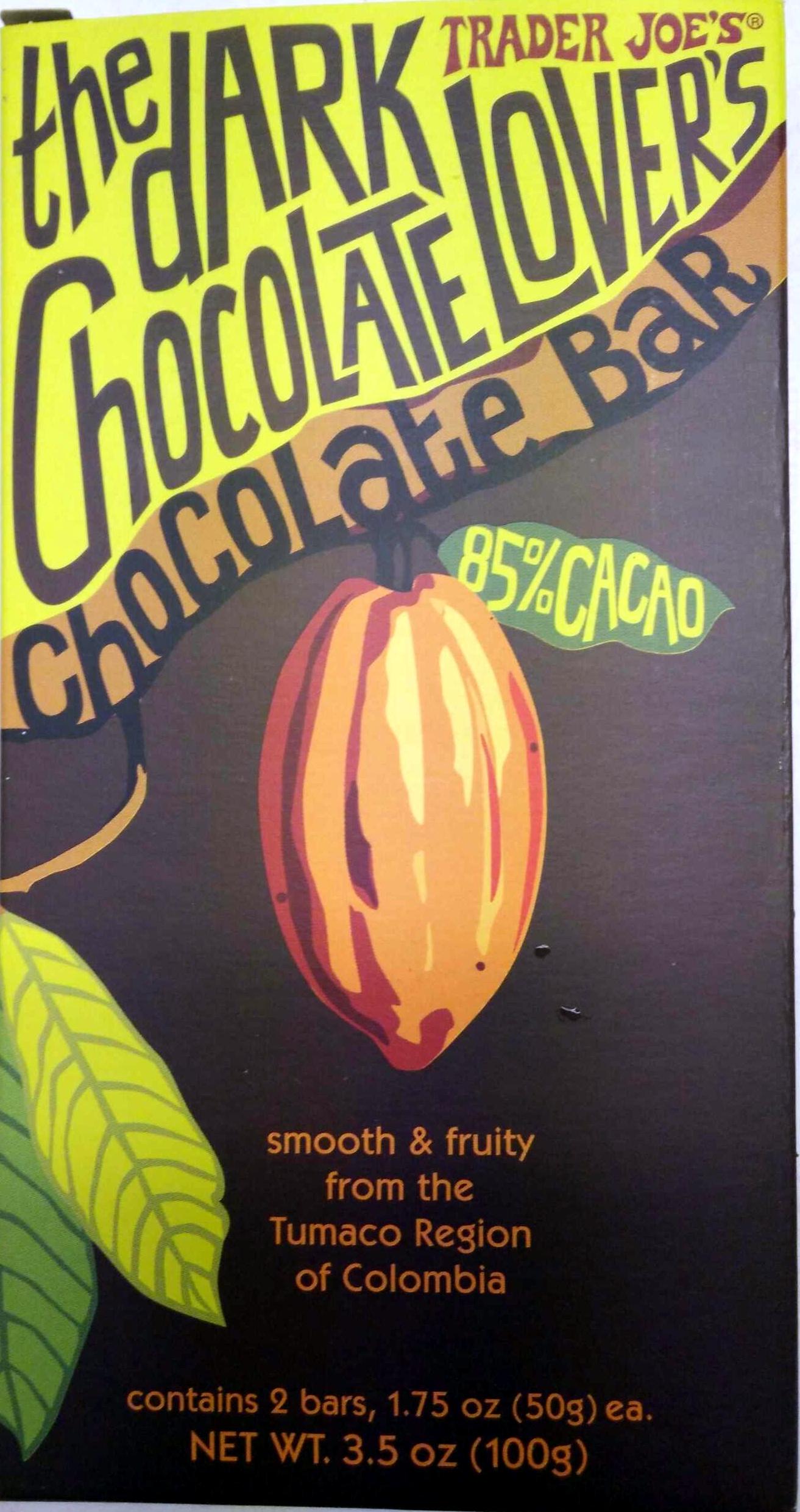 The Dark Chocolate Lover's Chocolate Bar - Product
