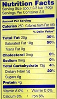 The Dark Chocolate Lover's Chocolate Bar - Nutrition facts