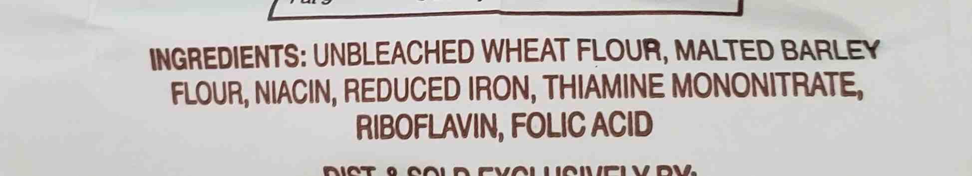 Baker Josef's unbleached all purpose flour - Ingredients