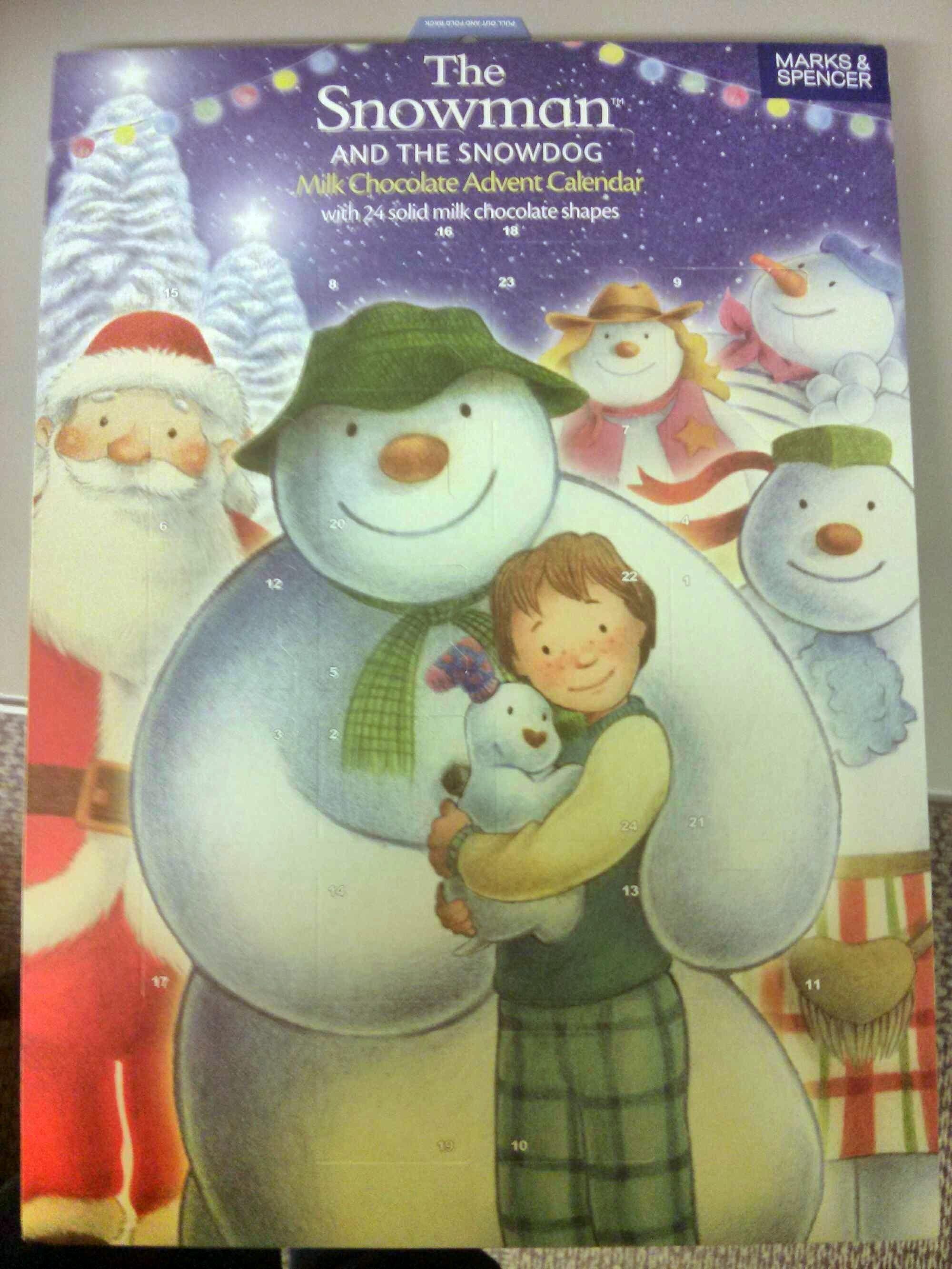 The Snowman & The Snowdog Milk Chocolate Advent Calendar - Product