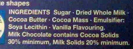 The Snowman & The Snowdog Milk Chocolate Advent Calendar - Ingredients