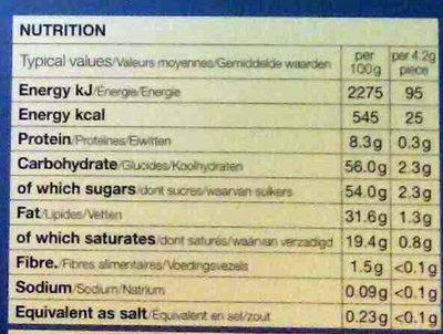 The Snowman & The Snowdog Milk Chocolate Advent Calendar - Informations nutritionnelles - fr