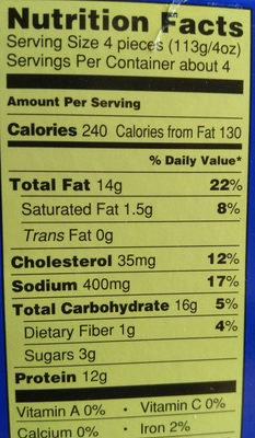 Trader Joe's Battered Fish Nuggets - Nutrition facts - en