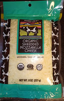 Organic shredded mozzarella cheese - Product - en