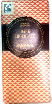 Dark Chocolate 72% Cocoa Solids - Product