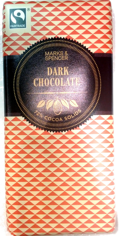 Dark Chocolate 72% Cocoa Solids - Product - en