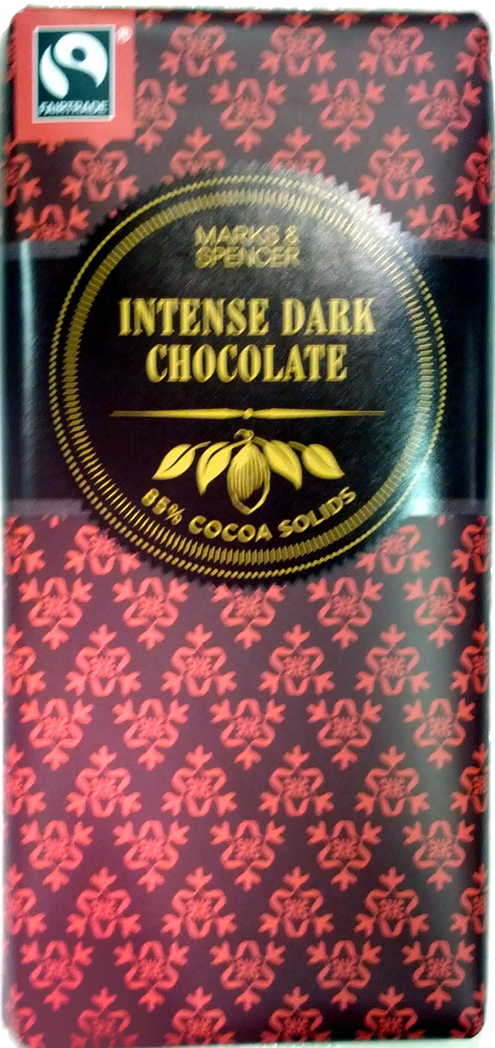 Intense Dark Chocolate 85% Cocoa Solids - Product